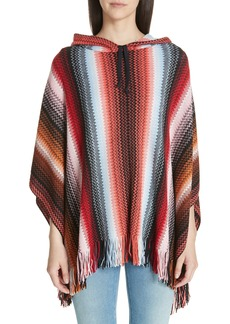 Missoni Zigzag Hooded Poncho
