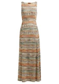 Missoni Zigzag-knit maxi dress