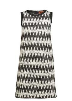 Missoni Zigzag-knit mini shift dress