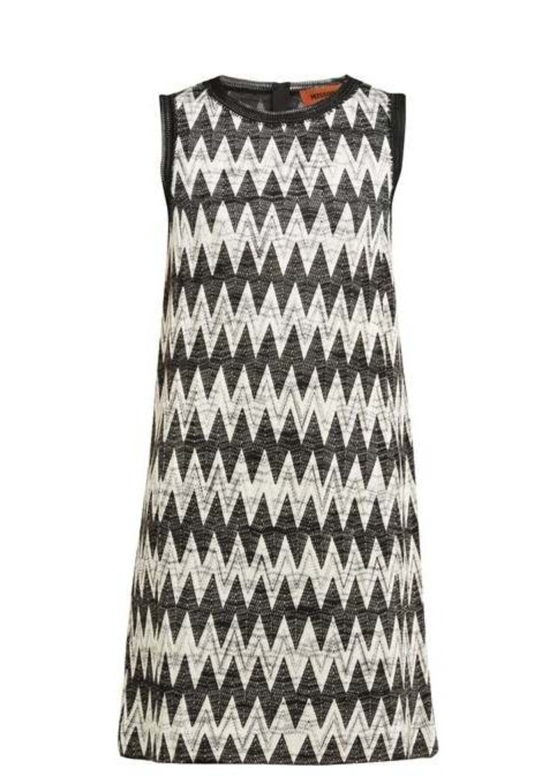 Missoni Zigzag-knit mini shift dress