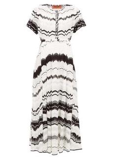 Missoni Zigzag-knitted cotton-blend mesh dress