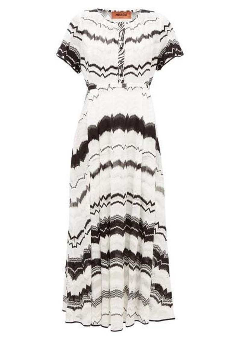 Missoni Zigzag-knitted cotton-blend mesh dress