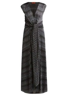 Missoni Zigzag knitted wrap-front dress