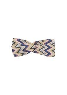 Missoni Zigzag knotted lamé-knit headband