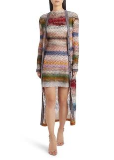 Missoni Zigzag Long Knit Cardigan