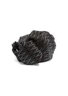 Missoni Zigzag metallic crochet-knit turban hat