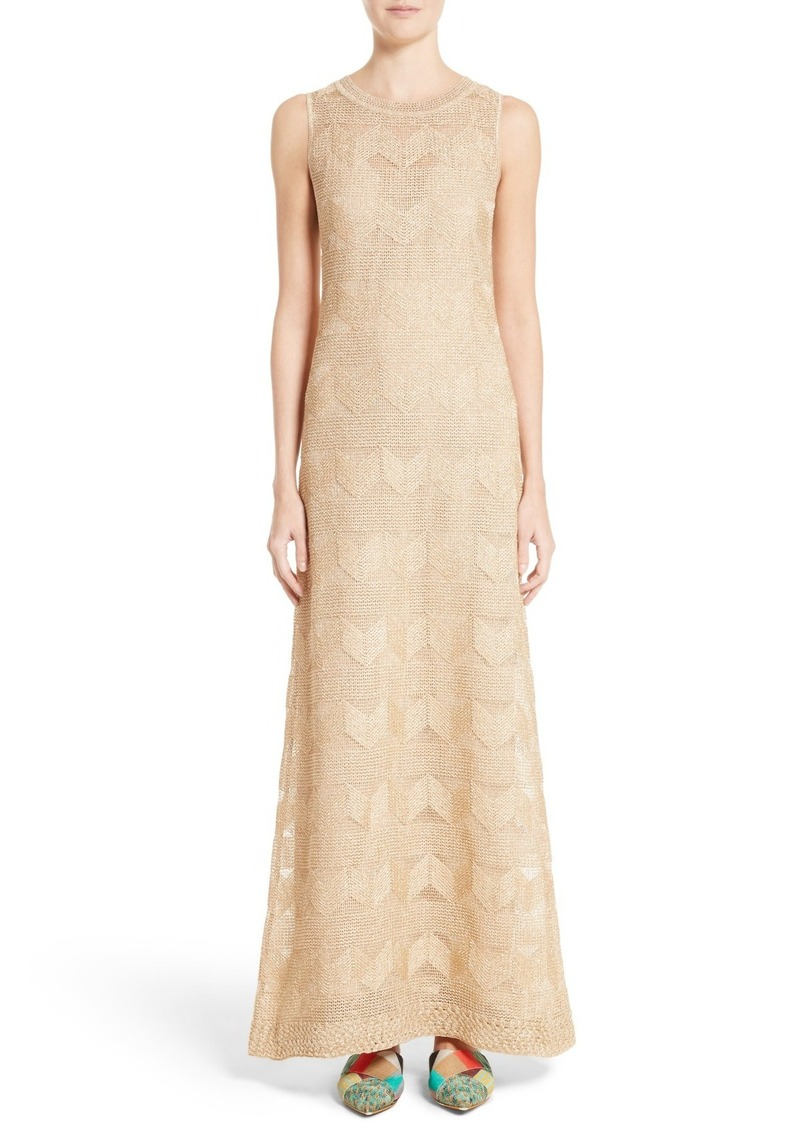 Missoni Zigzag Metallic Crochet Maxi Dress