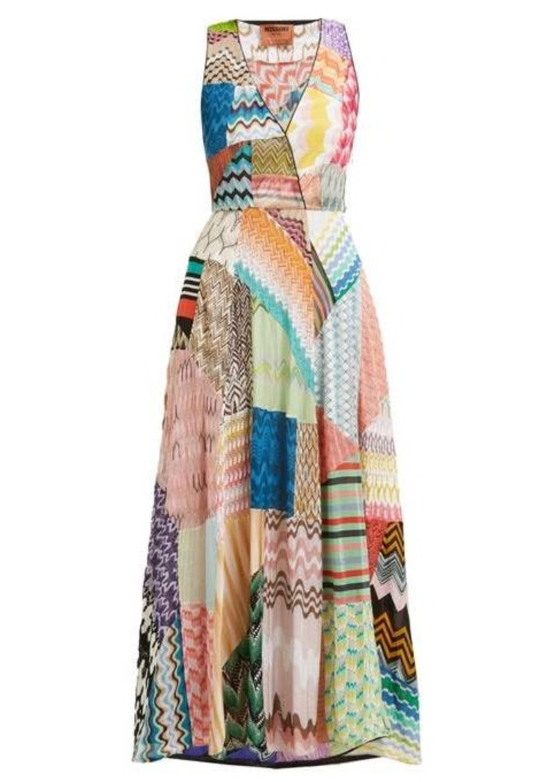 Missoni Zigzag patchwork silk-blend dress