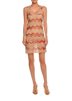 Missoni Zigzag Sleeveless Scoop-Neck Dress