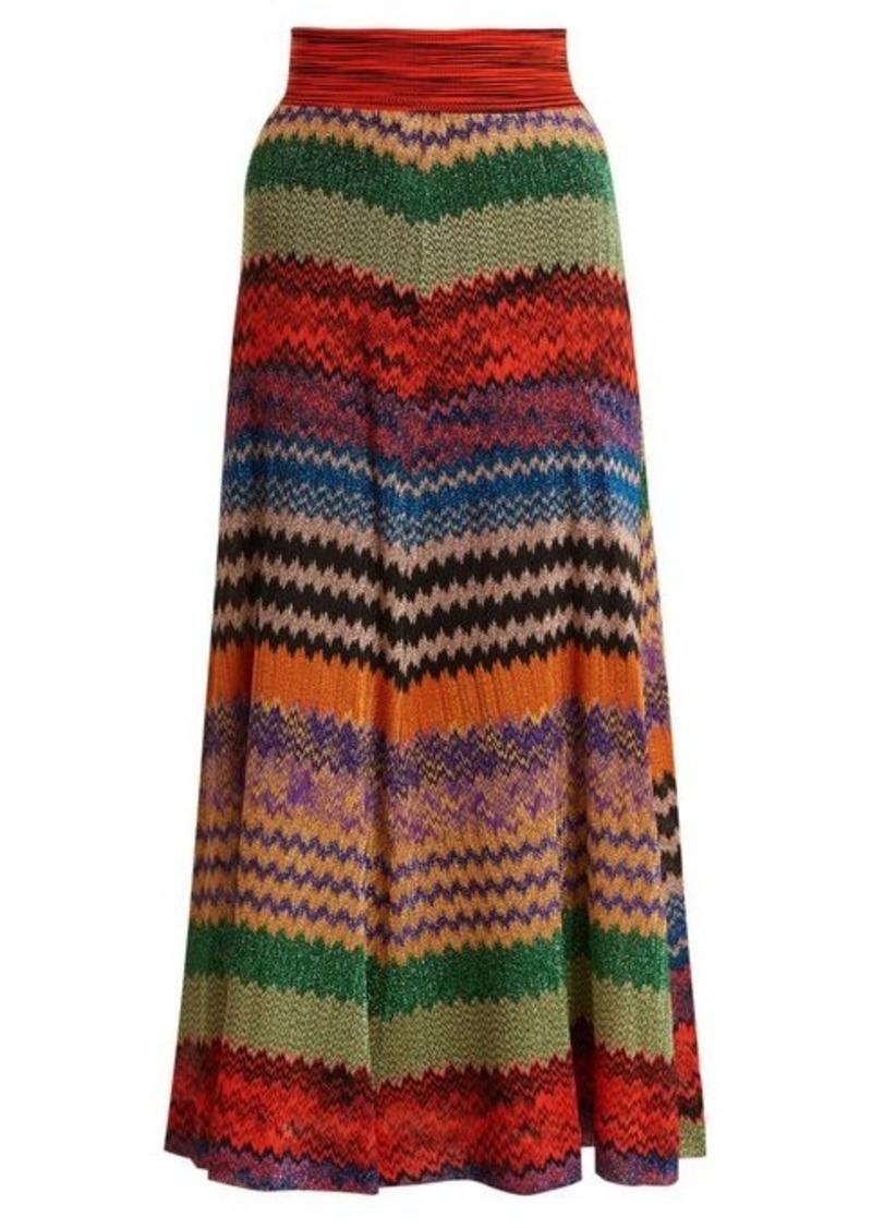 Missoni Missoni Zigzag-striped knit midi skirt  fd23ecb3c4bda