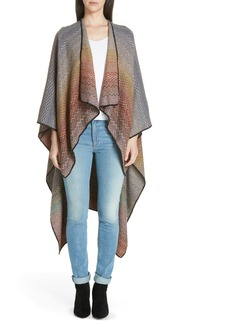 Missoni Zigzag Wool Blend Cape