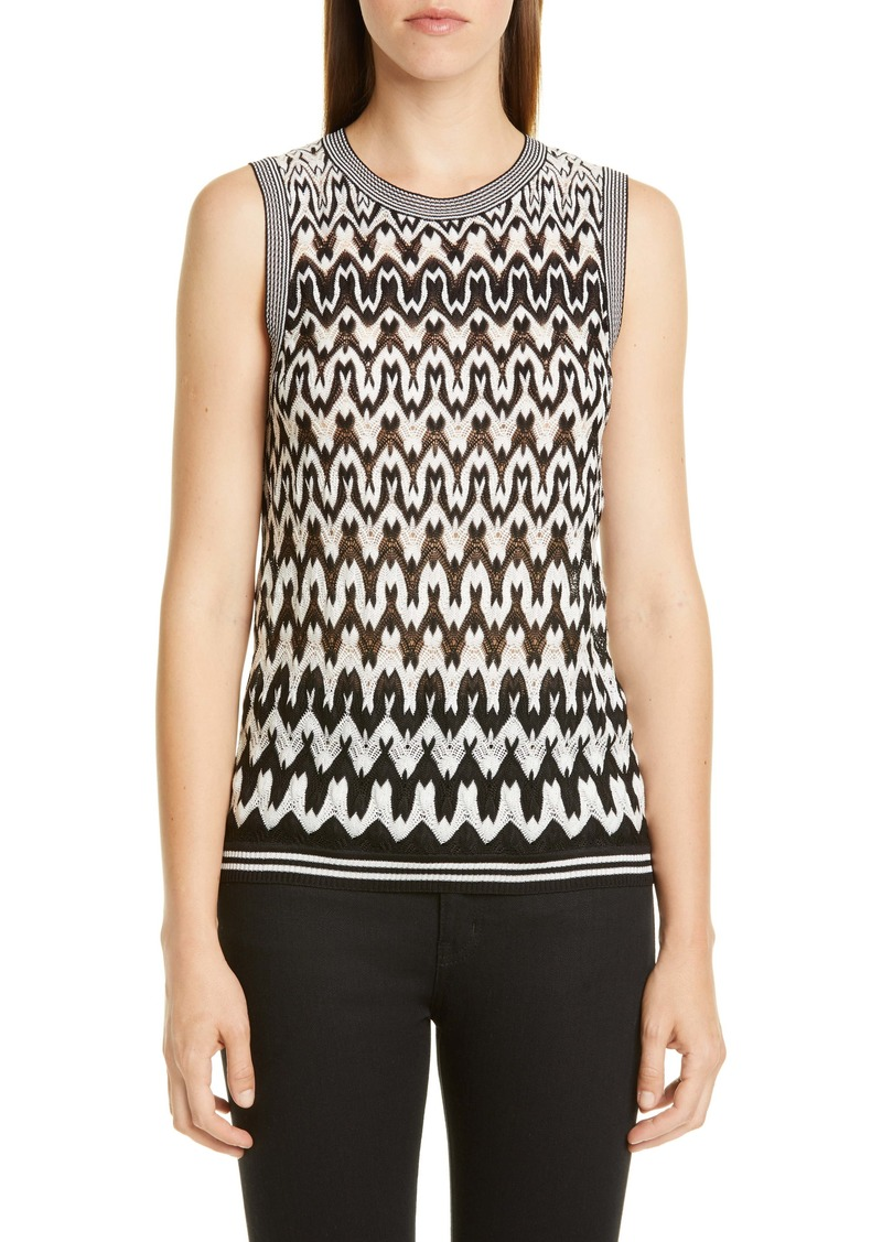 Missoni Zigzag Wool Blend Shell