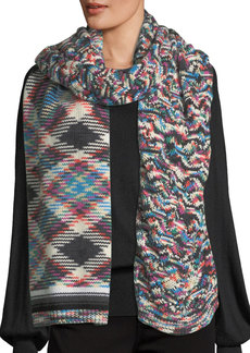 Missoni Mixed-Pattern Knit Scarf