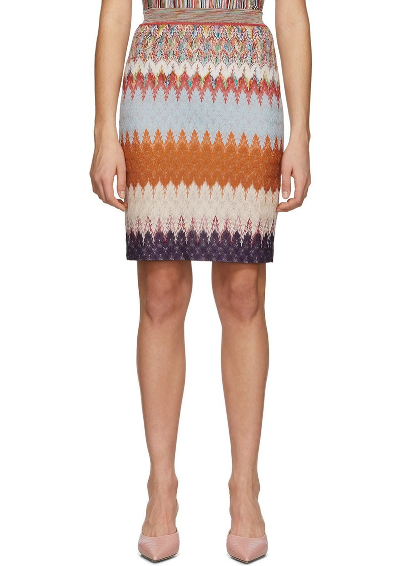 Missoni Multicolor Chevron Skirt