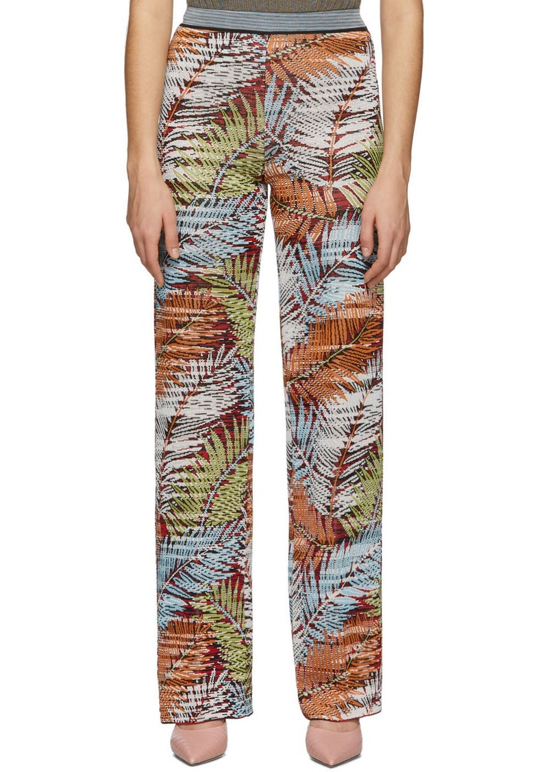 Missoni Multicolor Knit Palm Spring Trousers