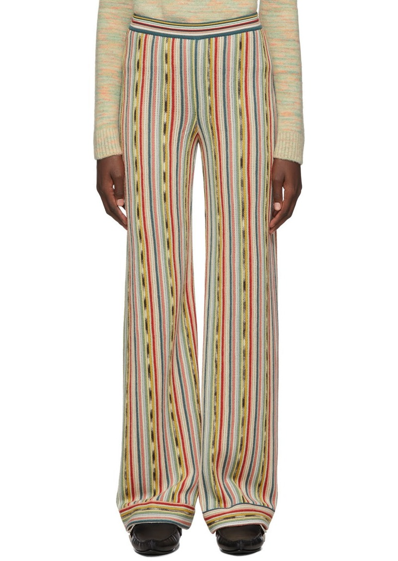 Missoni Multicolor Knit Pull-On Lounge Pants