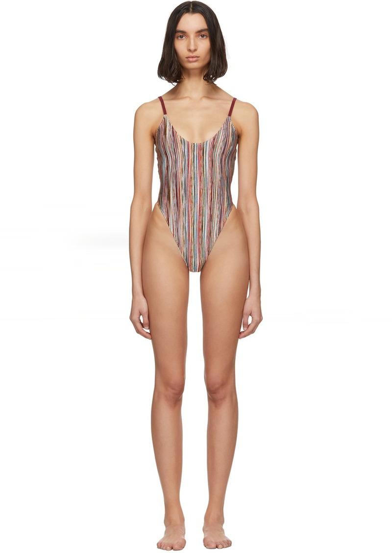 Multicolor 'Missoni Mare' Striped One-Piece Swimsuit