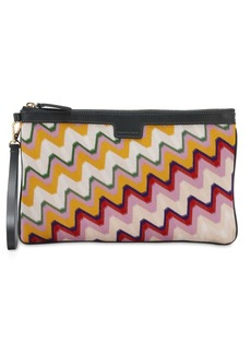 Missoni Multicolor Stripe Wool Clutch