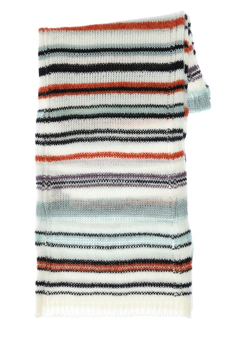 Missoni Multicolor Wool Blend Knit Scarf
