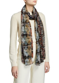 Missoni Multicolored Diamond Knit Lurex Wrap