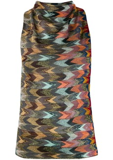 Missoni multicolour pattern knitted top