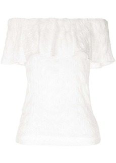 Missoni off-shoulder draped panel top