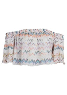 Missoni Off-The-Shoulder Chevron Crop Top