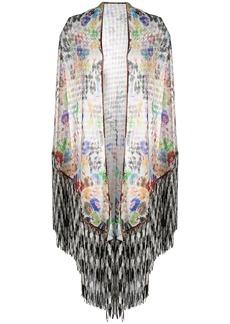 Missoni open-knit tasselled shawl