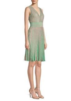 Missoni Operato Stripe Metallic Lamé A-Line Dress