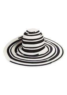 Missoni Oversized Stripe Straw Hat