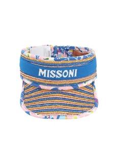 Missoni Pagoda Straw & Cotton Visor
