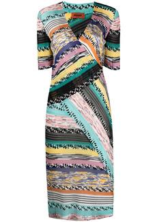 Missoni panelled striped V-neck dress