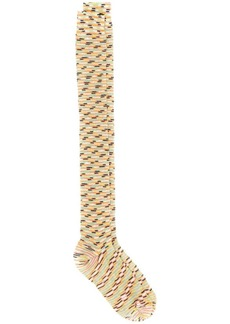 Missoni pattern knit socks