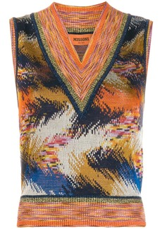 Missoni pattern mix knitted top