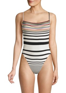 Missoni Pizzo Rigato Striped One-Piece Swimsuit
