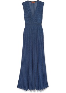 Missoni Pleated Lurex Maxi Dress