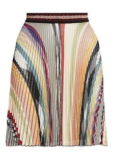 Missoni Pleated Mini A-Line Skirt