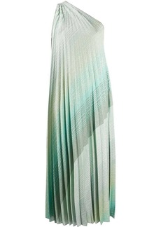 Missoni pleated one-shoulder dress