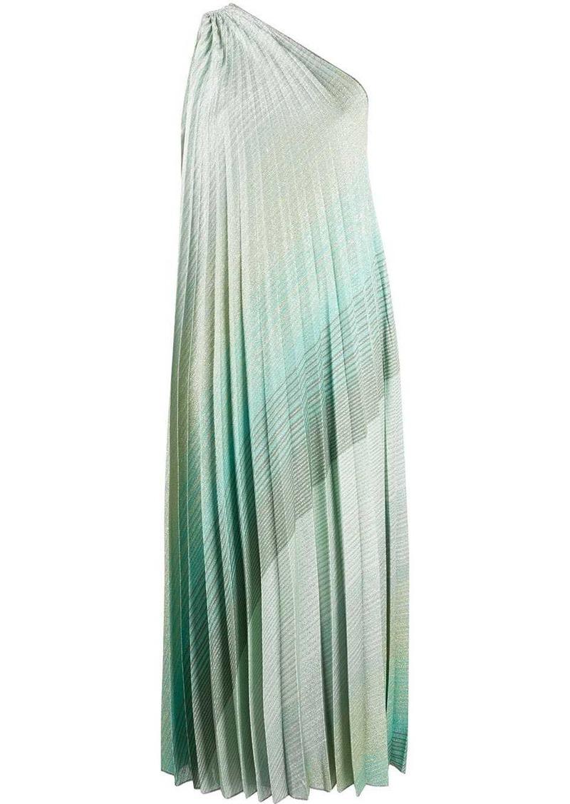 Missoni pleated one-shoulder dress