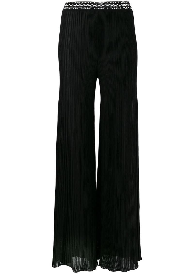 Missoni pleated palazzo pants