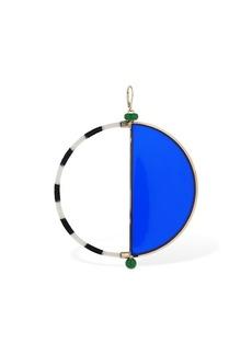 Missoni Plexi & Knit Maxi Hoop Mono Earring
