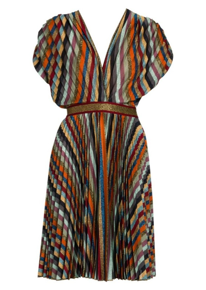 Missoni Plissé Multi Stripe Mini Dress