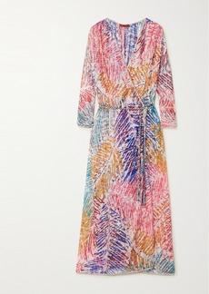 Missoni Printed Crochet-knit Robe