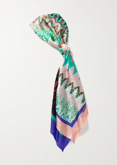 Missoni Printed Silk-jacquard Scarf