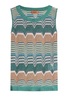 Missoni Printed Tank Top with Metallic Thread