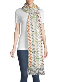 Missoni Rainbow Knit Fringe Scarf