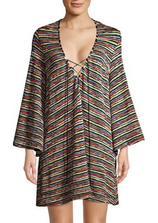 Missoni Raschel Rete Lace-Up Coverup