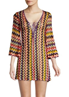 Missoni Raschel Rete Multicolor Short Cover Up