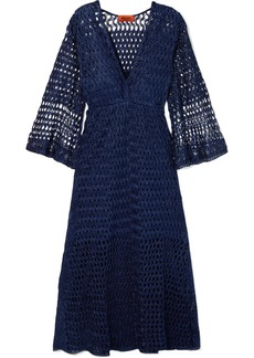 Missoni Reversible Metallic Crochet-knit Dress
