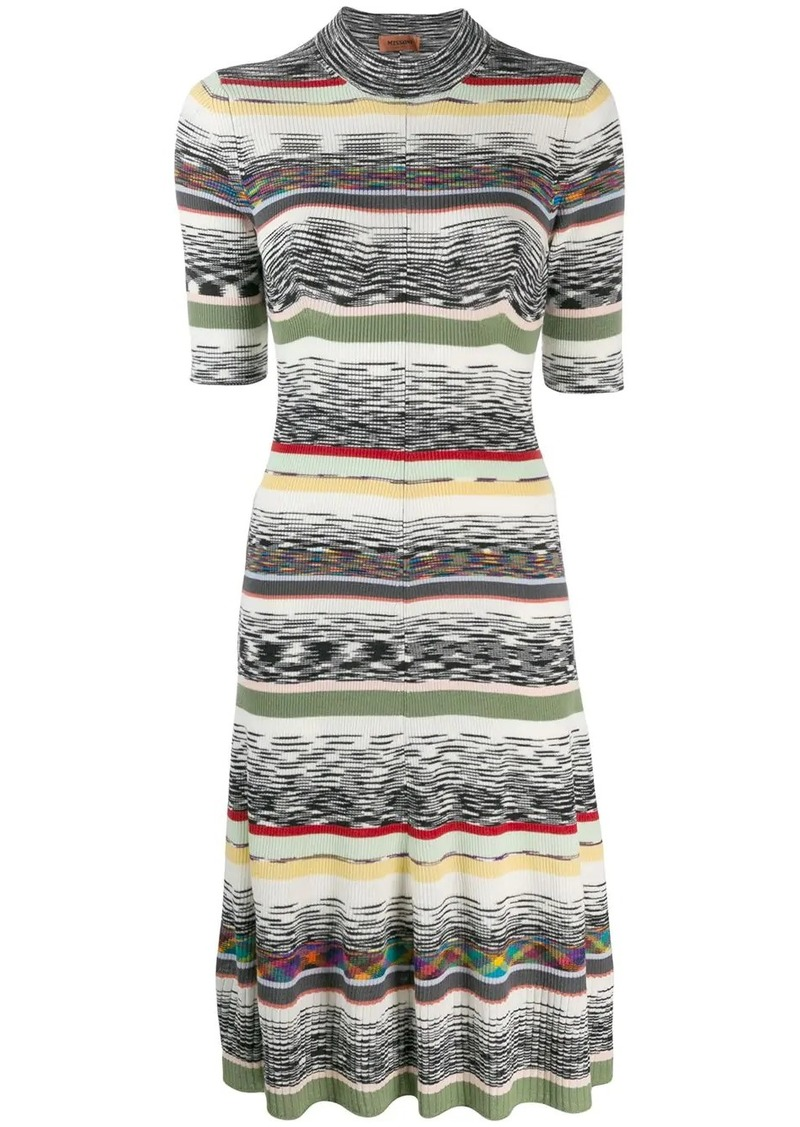Missoni ribbed design dress